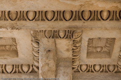 Detail of the underside of the pediment of the Temple of Trajan.