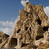 Kapadokya - Göreme Open Air Museum:<br /> Many of the rock formations used to house churches and nunneries.
