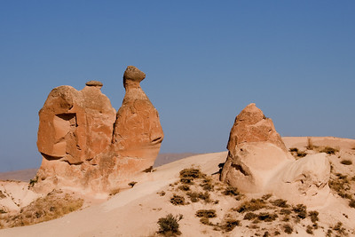 """The """"Deve"""" (camel) is the best known rock feature in Devrent Valley."""