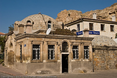"""Even a """"hamam"""" (Turkish bath) is not immune to modern technology - check out the satellite TV dish on the roof."""