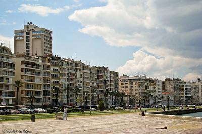 Kordon - modern day apartment buildings near the Alsancak Vapur İskelesi (Alsancak Ferry Terminal).