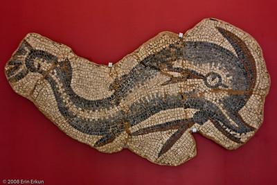 Dolphin Mosaic - 5th/6th Century AD (Pergamon  [Bergama]) History & Art Museum - Kültür Park