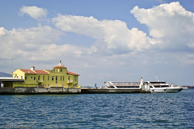 Kordon - A modern day ferry that plies the bay departs from the Pasaport Vapur İskelesi (Pasaport Ferry Terminal).