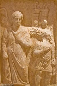 Funerary Stele for Eudokimos - Roman Period (Notion [Ahmetbeyli]) History & Art Museum - Kültür Park  (Eudokimos was the son of Constantine V, Emperor of the Eastern Roman Empire)