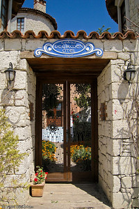 I especially like the wedgewood-blue name plaque at the entrance to Değirmen Otel.