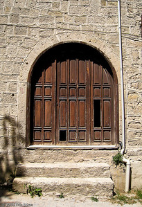 An Alaçatı door in need of some tender loving care.