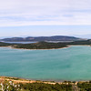 Panorama View of the Bay of Ayvalık from Şeytan Sofrası (Devil's Table) - it's so windy up here today that I can barely hold the camera steady.
