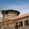 """This old windmill and the adjacent building, which was once a monastery/church, is located on Cunda.  The restored buildings, which date back to to the mid 1450s, currently house a library established under the auspices of the Rahmi M. Koç Museum & Culture Foundation.  The library is named for Sevim ve Necdet Kent.  Necdet Kent was a Turkish diplomat who risked his life to save Jews during World War II.<br /> <br /> (For more information:  <a href=""""http://www.rmk-museum.org.tr/english/index-cunda-eng.html"""">http://www.rmk-museum.org.tr/english/index-cunda-eng.html</a>)"""