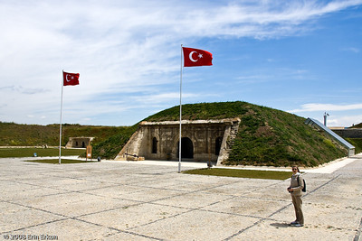 "Aylin at Namazgah Tabyası (battery).  Namazgah means ""prayer site.""  The battery was so named because during the summer months the soldiers from the nearby fortress used the open area shown here for the five-times-daily prayer ritual."