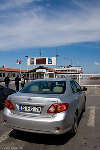 We arrive at the main ferry terminal in Çanakkale at 11:37a, just in time to catch the noon ferry to Eceabat on the Gelibolu Peninsula.
