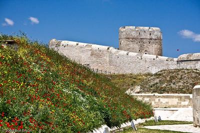A peek at Kilitbahir Fortress from Namazgah Tabyası (battery).