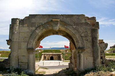 Original entrance to Namazgah Tabyası (battery).