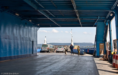 As the second car to be loaded, we have a prime spot for debarking the ferry in Eceabat.