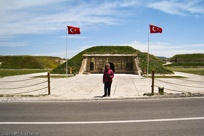 "An ""I was there"" photo op at Namazgah Tabyası (battery)."