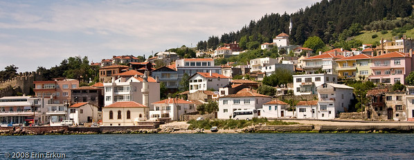 The town of Kilitbahir from the ferry terminal on Gelibolu Peninsula.