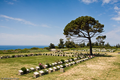 Lone Pine Cemetery - view from the memorial towards Brown's Dip Plot at the far end.