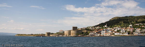 View of Kilitbahir Fortress and the town of Kilitbahir from the ferry.