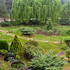 Panoramic view of the grounds on a misty spring morning in the Kaz Dağları.  There are birds chirping their little hearts out and frogs croaking away.