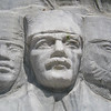 "Kordon - Alsancak, İzmir:<br /> A closer look at the relief of Atatürk, the central figure in the scenes carved into the base of the ""Cumhuriyet Ağacı Anıtı"" (Republic Tree Monument)."
