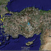 This Google Earth image displays my home base in İzmir and the major sites we visited on our side trip to the Gelibolu (Gallipoli) Peninsula.
