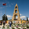 Anzac Cove Loop - Gelibolu (Gallipoli Peninsula):<br /> We arrive at the 57. Alay Anıtı (Memorial to the 57th Regiment) to find it crowded with visitors, mostly Turks, touring is monument to the Turkish soldiers who died during the Gallipoli Campaign.