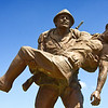Anzac Cove Loop - Gelibolu (Gallipoli Peninsula):<br /> Mehmetçiğe Saygı Anıtı (Respect for Mehmetçik Monument) on the Anzac Cove Loop features a Turkish soldier (Mehmetçik is a nickname associated with all Turkish soldiers) carrying a Johnnie. The inspiration for the monument came from a speech given by the (then) Australian Governor General Lord Richard Casey, when he visited Çanakkale in 1967. Casey, who served at Gallipoli as a lieutenant, told of how in the heat of the battle, a Turkish soldier carried a wounded British soldier from his trench over to the Allied trench only meters away and, leaving him with his comrades, returned to his own lines.A closer look at the figure of Mehmetçik carrying a wounded Johnnie.