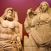 History & Art Museum - Kültür Park - Alsancak, İzmir:<br /> Poseidon & Demeter - Antonine Period (Agora of Smyrna [İzmir])<br /> <br /> Poseidon was the Greek god of the sea.  Demeter, his sister, was the Greek earth goddess, who brought forth the fruits of the earth, particularly the various grains. She taught mankind the art of sowing and plowing so they could end their nomadic existence.