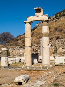 Ephesus - Prytaneum; reconstructed columns. 20 Oct 2013