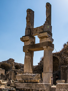 Ephesus - reconstructed columns at the Temple of Domitian. 20 Oct 2012