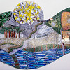 Kent Park - lunch at Kırım Çibörekçisi; mosaic mural.<br /> 13 Oct 2012