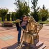 "Kentpark - a statue of the ""Flower Vendor"" greets visitors to the park.<br /> 13 Oct 2012"