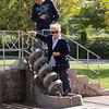 Kent Park - Mom and Kerim conducting scientific experiments.<br /> 13 Oct 2012