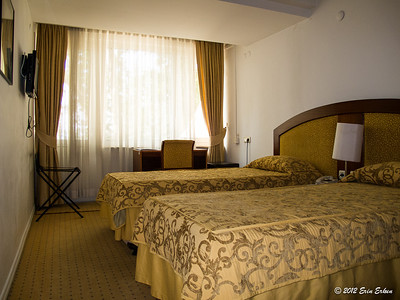 My room at the Anadolu University Lodgings where we are staying as guests of Mui's sister. 13 Oct 2012