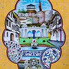 Kütahya's Çinigar - a lovely mural made from the city's signature tilework.<br /> 10 Oct 2012