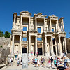 Crowds at Library of Celsus