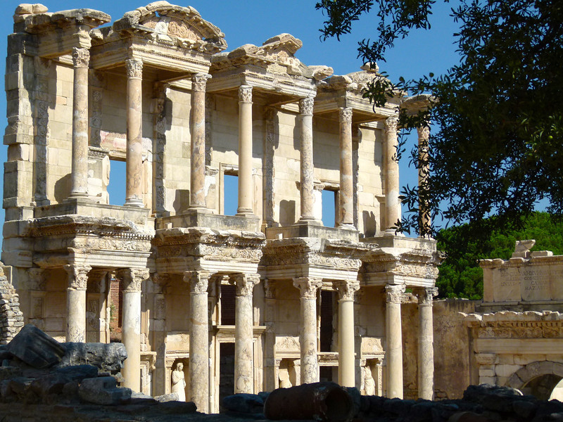 The imposing Library of Celsus in Ephesus, Turkey