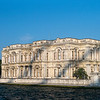Beylerbeyi Palace in shadow of Bosphorus Bridge