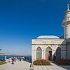 Topkapi chapel minaret & park with Bosphorus in background