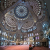 inside the Blue Mosque spherical panorama