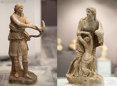 Artemis shooting Niobe's children Heraklion Museum