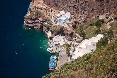 base of Santorini cliff