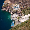 base of Santorini cliff