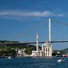 west tower of Bosphorus Bridge & Ortokoy Mecidiye Mosque