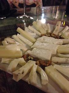 Local cheese for dessert - Goreme, Cappadocia, Turkey