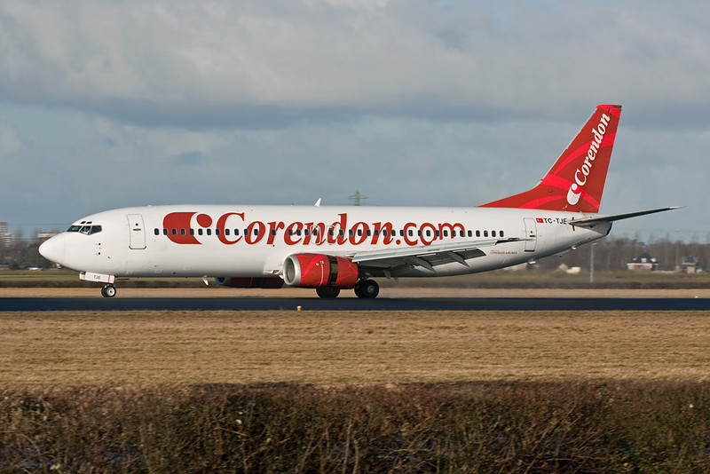 "TC-TJE Boeing 737-4Y0 ""Corendon Airlines"" c/n 26073 Amsterdam/EHAM/AMS 03-02-10"