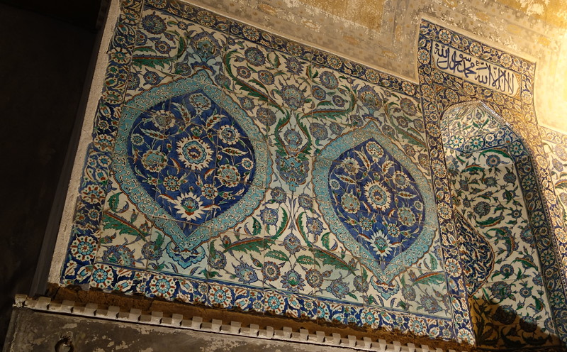 Tile detail at Hagia Sophia. An early Islamic addition.