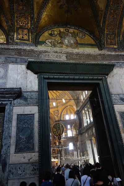 Entry to the Hagia Sophia