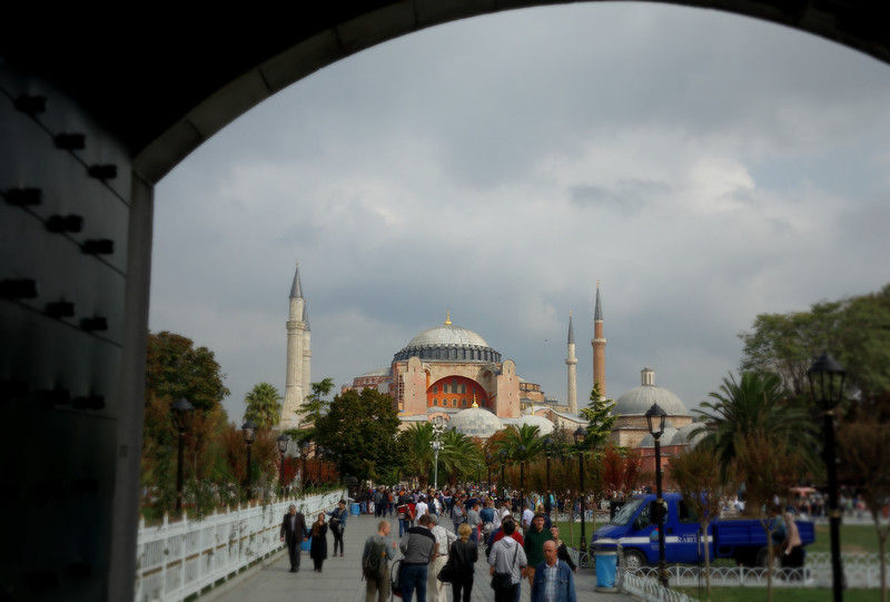 Hagia Sofia as seen from the Blue Mosque
