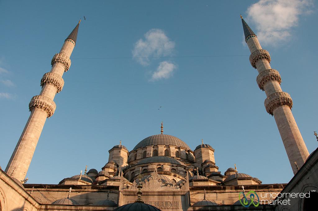 Yeni Camii Mosque Minarets - Istanbul, Turkey