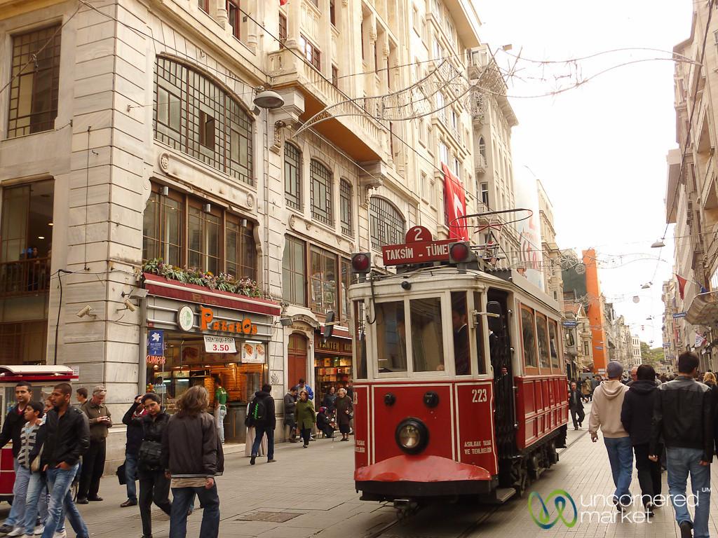 Tram on İstiklâl Caddesi - Istanbul, Turkey